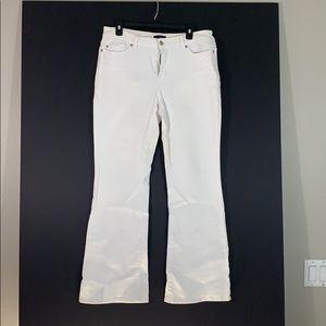 White denim bell bottom jean summer fun